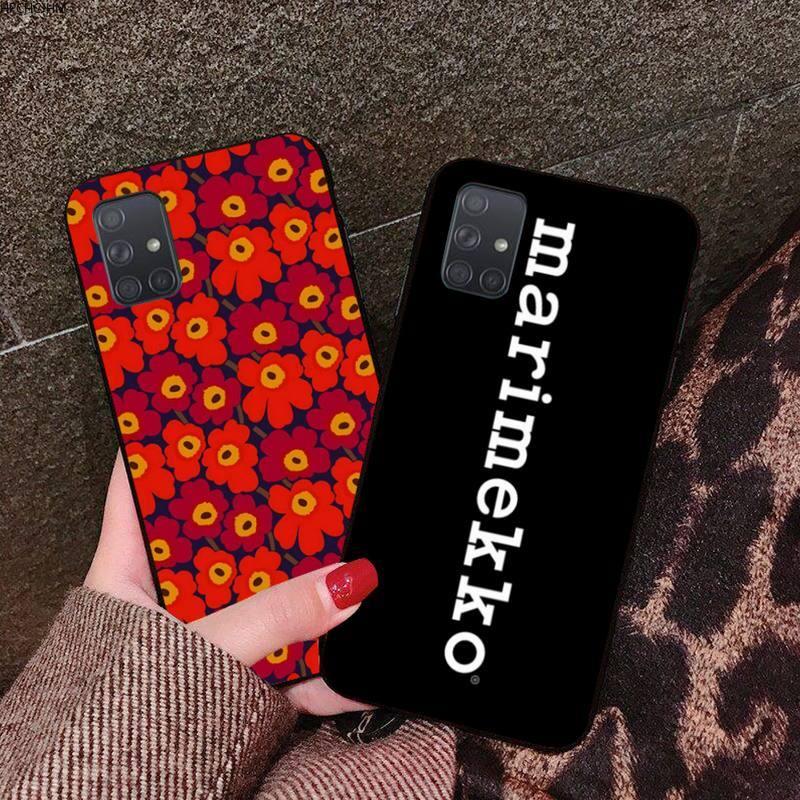 HPCHCJHM Marimekko azul flor TPU de silicona suave cubierta de la caja del teléfono para Samsung A10 A20 A30 A40 A50 A70 A80 A71 A91 A51 A6 A8 2018