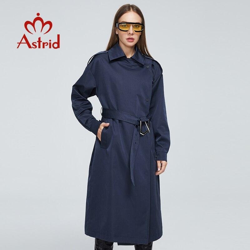 استريد سترات المرأة الربيع 2021 الكلاسيكية مزدوجة الأعمال سترة واقية الاحزمة الطويلة الخريف خندق معطف المرأة ملابس خارجية DS07