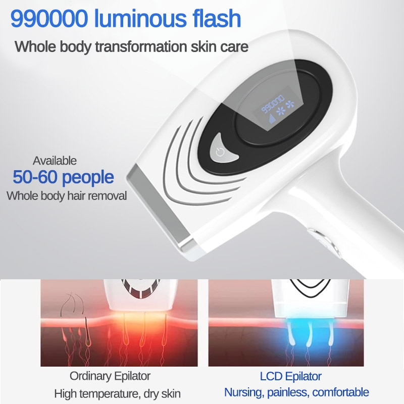 999999 Flashes Pulsed IPL Laser Hair Removal Device LCD Display Permanent Hair Removal Epilator Armpit Hair Remover machine enlarge