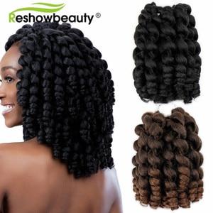 Jumpy Wand Curl Crochet Braids Hair Extension Jamaican Bounce Curl 80g Crochet Hair Braiding Hair 20 Roots/Pack