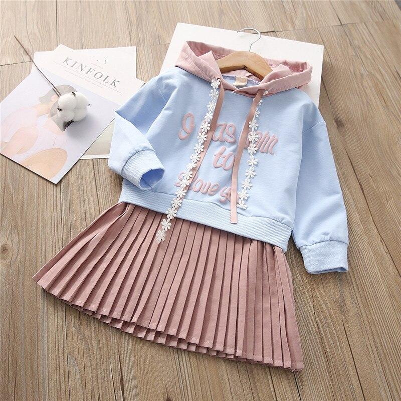 Vestido para niñas Menoea primavera 2020, nuevo traje estampado para niños, vestidos con sombrero, ropa para niños, vestido para niñas de 3 a 7 años