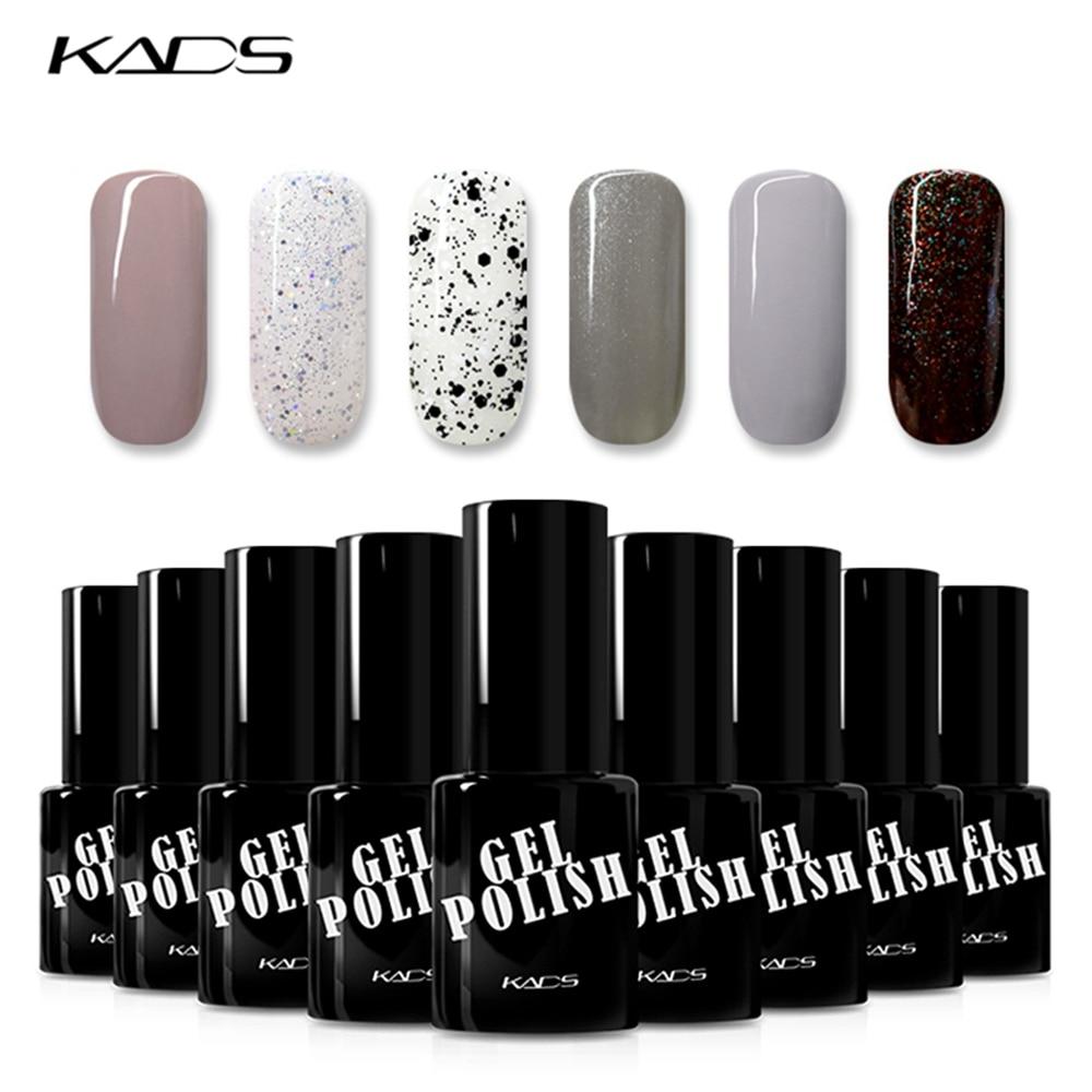 KADS 9,5 ml Gel de esmalte de uñas para remojo LED UV Gel de uñas barniz pegamento laca profesional esmalte de uñas de Gel uv manicura