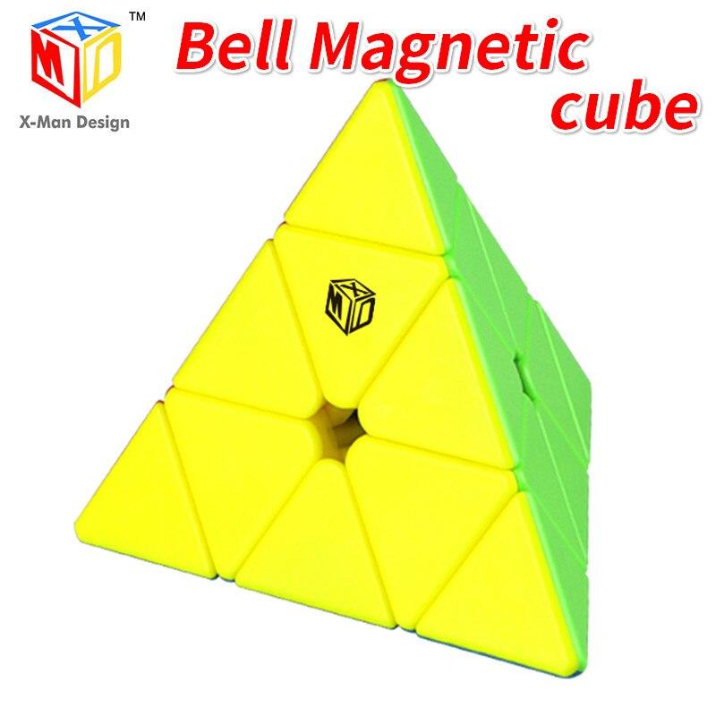 Mofangge x-man campana magnética Pyramided Cubo mágico Qiyi Cubo triangular velocidad rompecabezas juguetes educativos para niños Cubo mágico