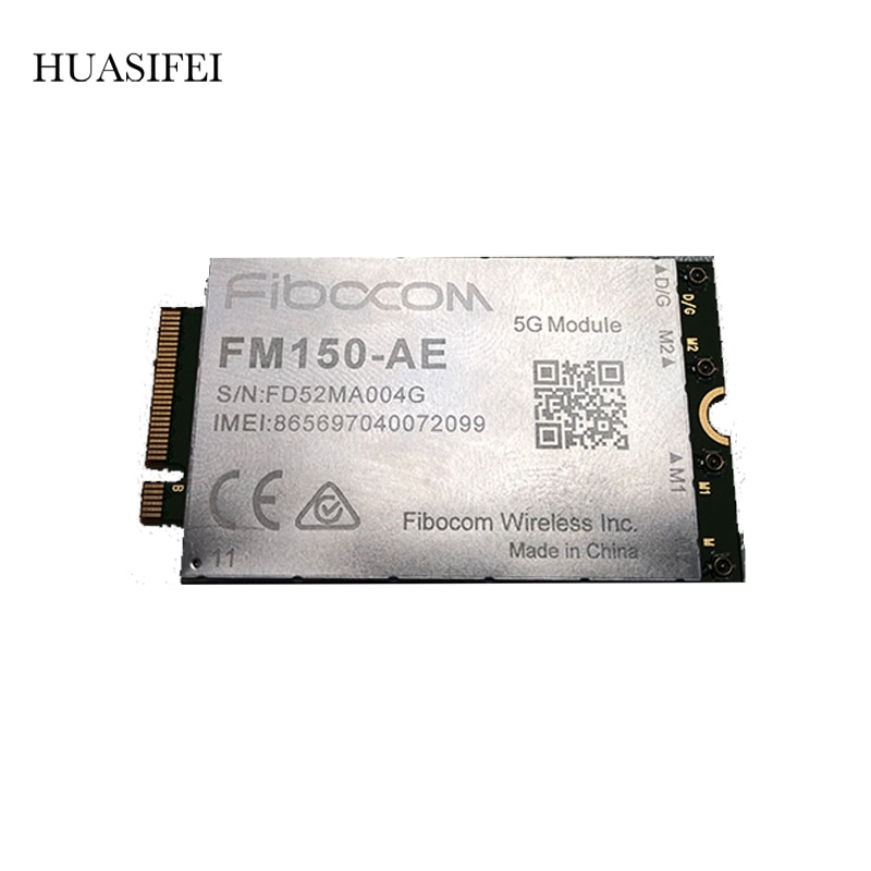 FIBOCOM FM150-AE MINIPCIE Quectel 5G Wireless Module Cover global 5G frequency bands Multi-constellation GNSS capabilities enlarge