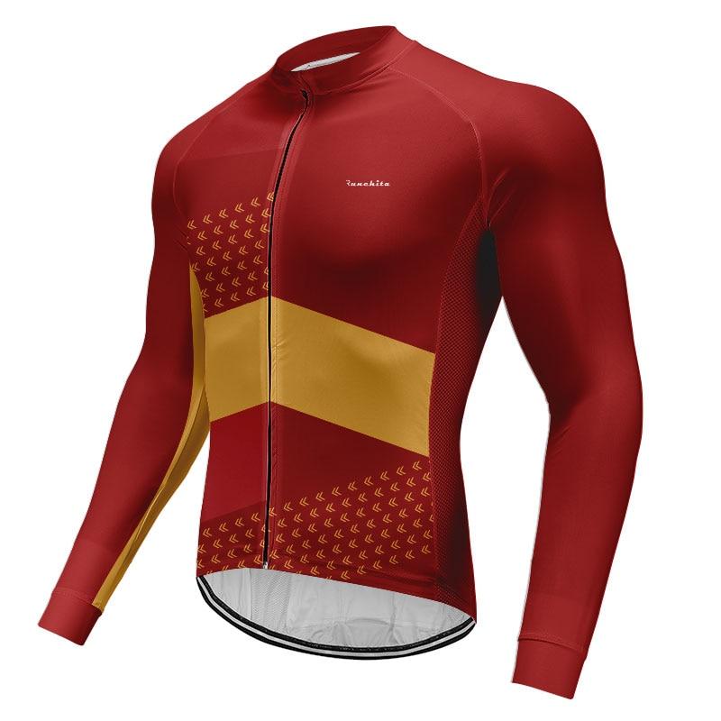 Primavera otoño 2020 Pro Team Runchita ciclismo Jersey manga larga para hombre secado rápido bicicleta delgada MTB ropa ciclismo Jersey On