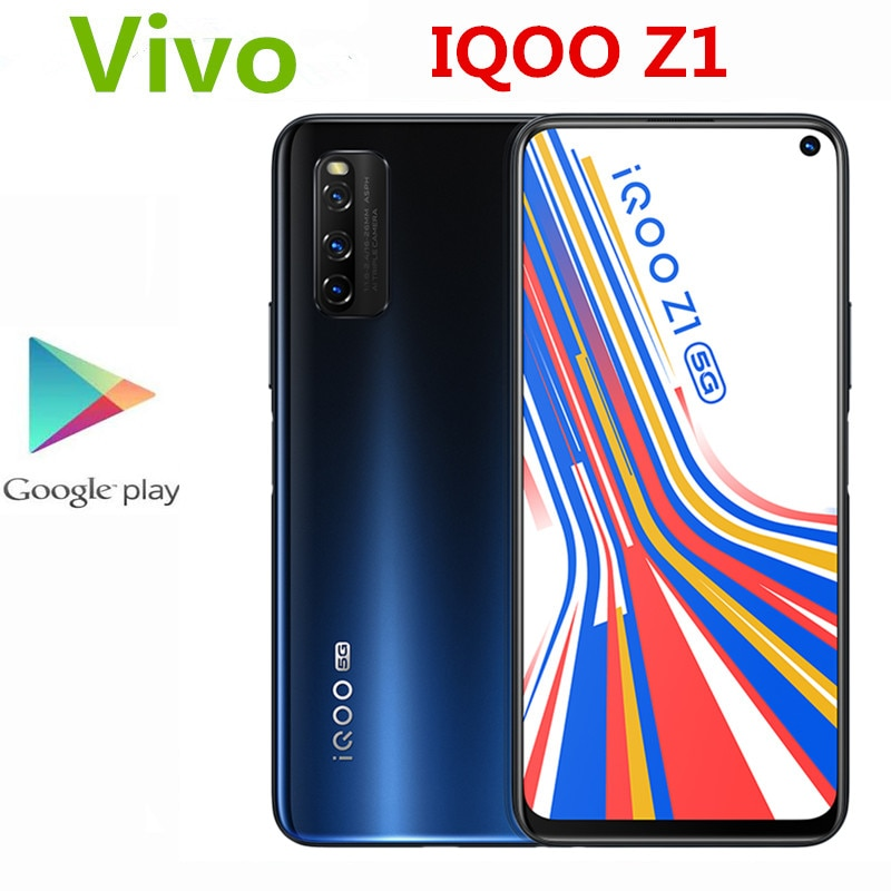 "Original Vivo IQOO Z1 5G Handy 6.57 ""144HZ Bildschirm 48,0 MP + 16,0 MP + 8,0 MP + 2,0 MP 8GB RAM 256GB ROM Mediatek 1000 Plus OTA OTG"