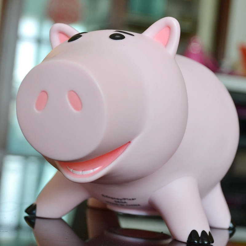 Disney Sausage Pig Toy Story 4 Ham Cartoon Pig Toy Doll Model Ornament Savings Pot Sausage Pig Piggy Bank Toy For Children