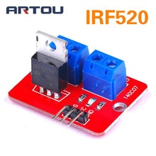 0-24 V bouton Mosfet supérieur IRF520 MOS Module de pilote pour Arduino MCU bras Raspberry pi