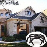 30 см/50 см/75 см/90 см/125 см/150 см/200 см, черный паук, украшение для Хэллоуина, дом с привидениями, гигантский декор для помещений и улицы