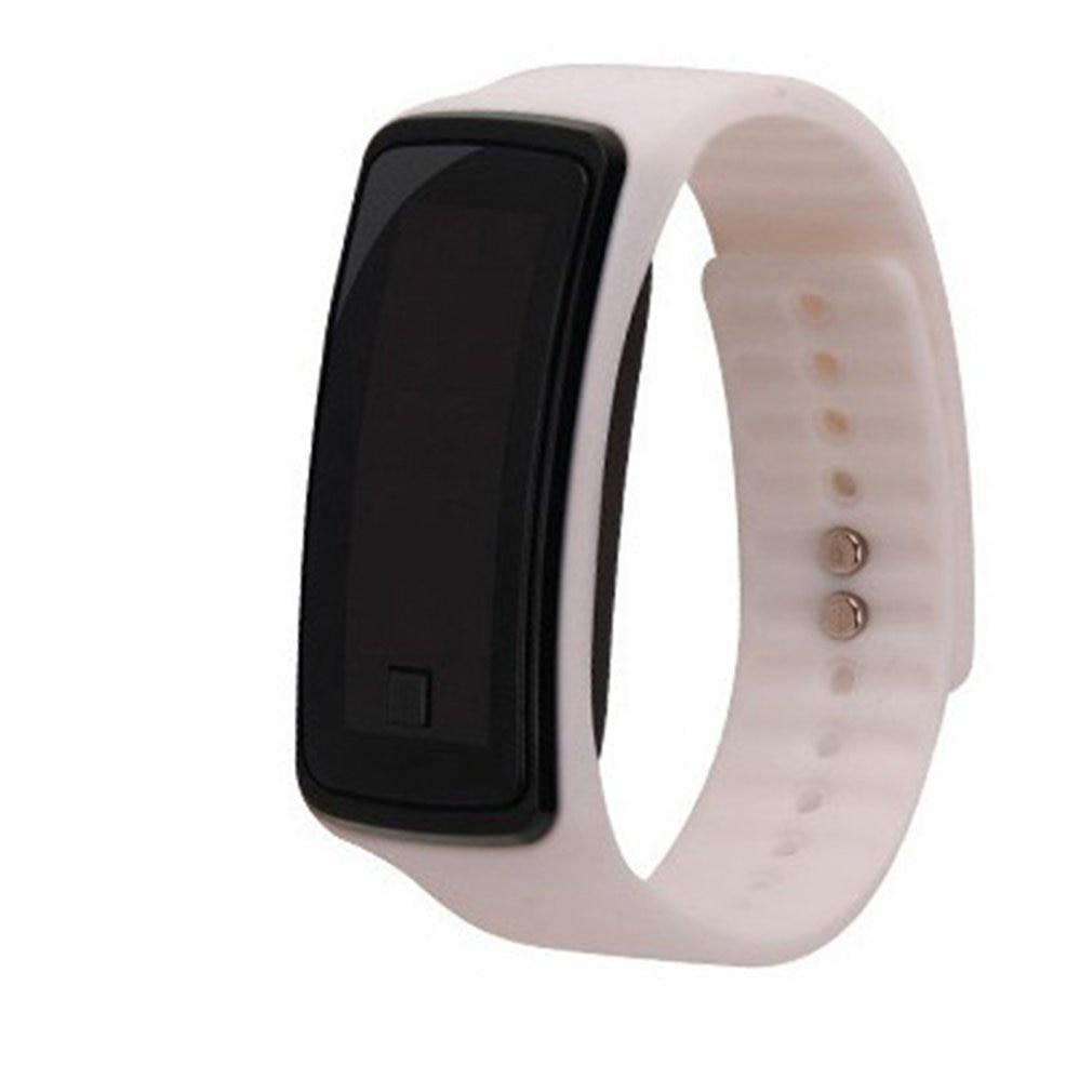 Fashion Silicone Band Children LED Digital Wrist Watch Lightweight Sports Bracelet Clock Unisex Men