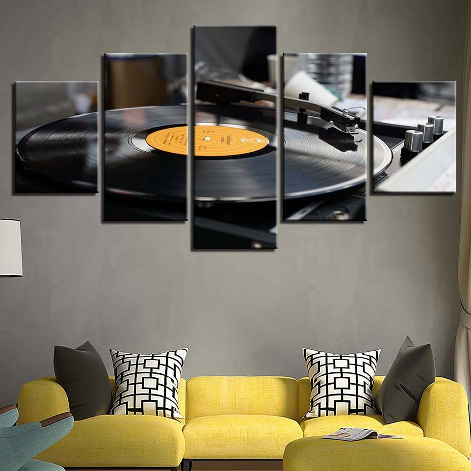 5 piezas música registro HD impresión Modular lienzo pinturas para sala de estar decoración del hogar cuadros modulares arte de pared carteles (sin marco)