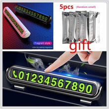 Samochód tymczasowa karta parkingowa odświeżacz powietrza numer telefonu dla Kia Provo K9 krzyż Carens CUB Trackster Ray K2 Naimo Pro Venga