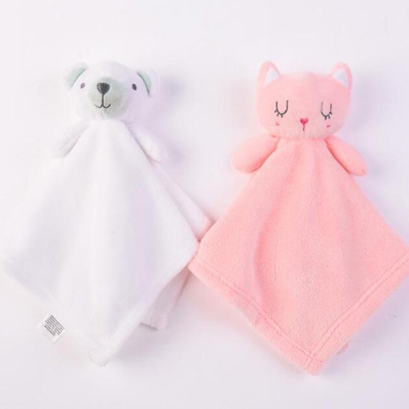 1pc Baby Plush Toy Cute Animals Comfort Towel Soft Appease Dolls Newborn Boys Girls Playmate Sleeping Toys