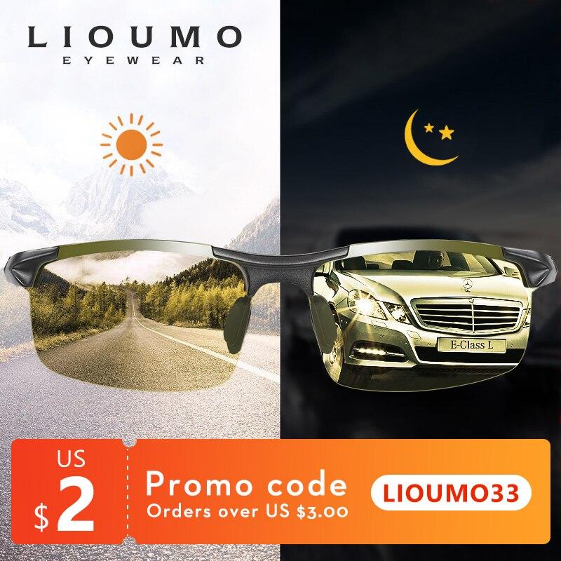 Очки солнцезащитные LIOUMO поляризационные для мужчин и женщин, фотохромные солнечные очки-хамелеоны для вождения, UV400