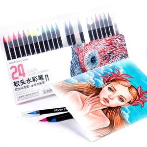 12/24/48/72Colors Watercolor Brush Pens Graffiti Sketch Manga Drawing Soft Art Markers Water Color Calligraphy Painting Supplies