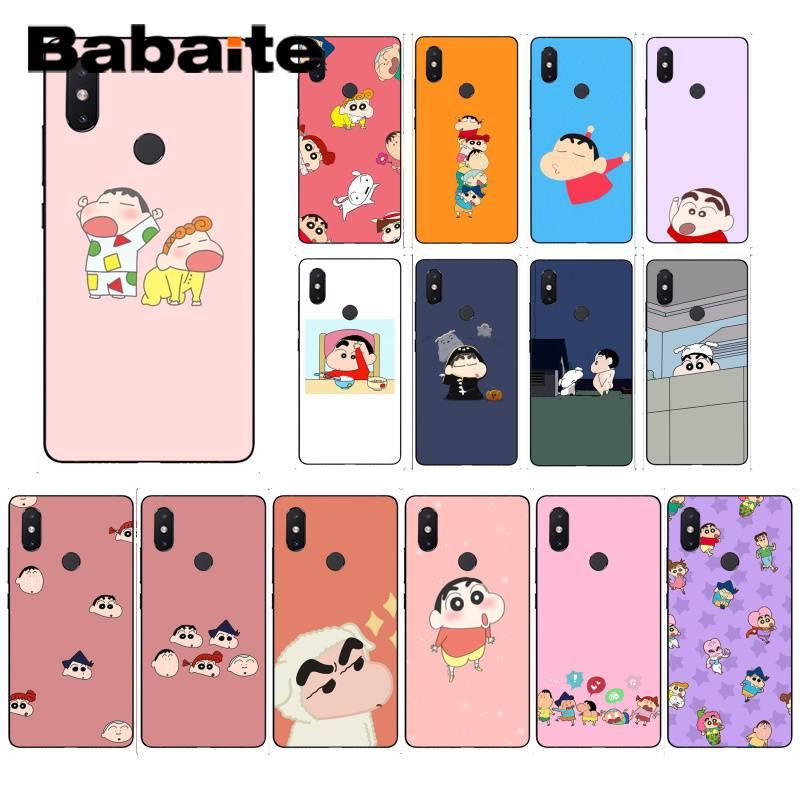 Teléfonos móviles 6 MIX2 8SE K20 REDMI 5A NOTE4X 7 6A de Babaite Crayon Sinchan, con divertidos dibujos animados, de alta calidad, funda de teléfono para XiaoMi