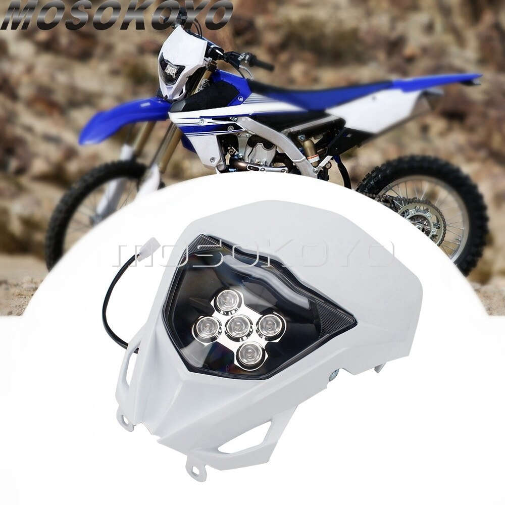 ل ياماها WR250F WR450F WR250R YZ450F إندورو Supermoto الترابية دراجة LED العلوي موتوكروس الجبهة ضوء WR WRF TTR TT-R YZ YZ-F