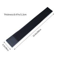Tapis de barre de caboteur épaissi PVC anti-dérapant imperméable à leau napperon barre tapis en caoutchouc tapis rectangulaire bière whisky imperméable Mat barre Acces