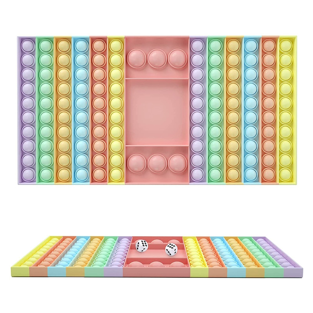 Big Size Fidget Toys Simple Dimple Push It Rainbow Chess Board Push Bubble Toy Adult Stress Relief Toy Family Table Board Games