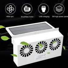 Fenêtre de voiture automatique évent à énergie solaire Ventilation fraîche USB ventilateur déchappement radiateur évent Ventilation fraîche USB ventilateur déchappement Radia
