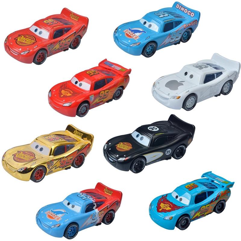 Машинка «Тачки 2» Disney Pixar, 3 игрушки, поршневая чашка, Молния Маккуин, литая машина 1:55, металлический сплав, игрушечная машинка для мальчиков, ...