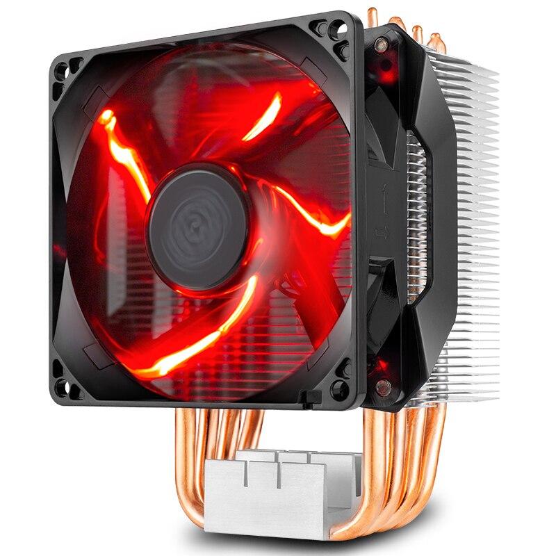 برودة ماستر RR-H410-20PK-R1 T410R 4pin PWM وحدة المعالجة المركزية برودة مروحة 92 مللي متر LED هادئة وحدة المعالجة المركزية التبريد المبرد مروحة ل إنتل LGA 115X ...