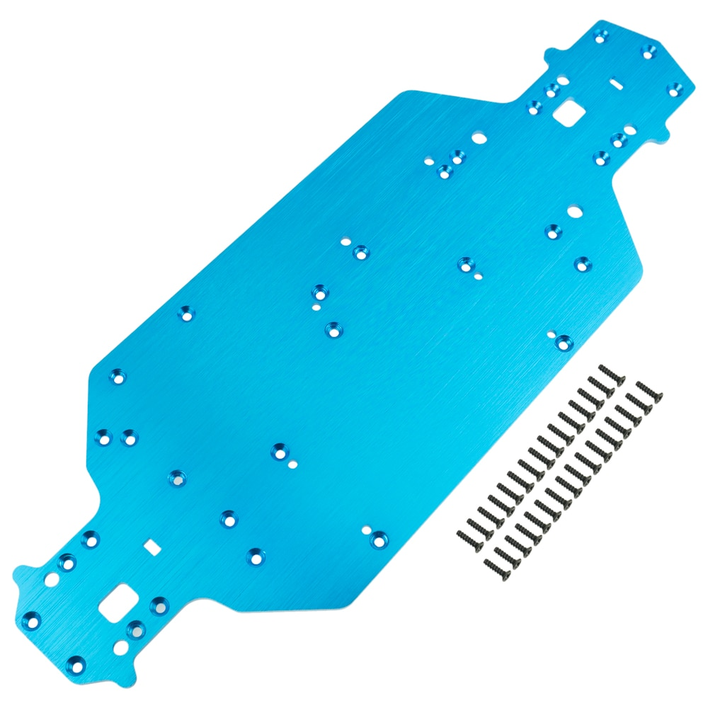 Metal 03001 Chassis 3mm thickness 03602 For RC 1/10 HSP 94103 94123 Upgrade Parts enlarge