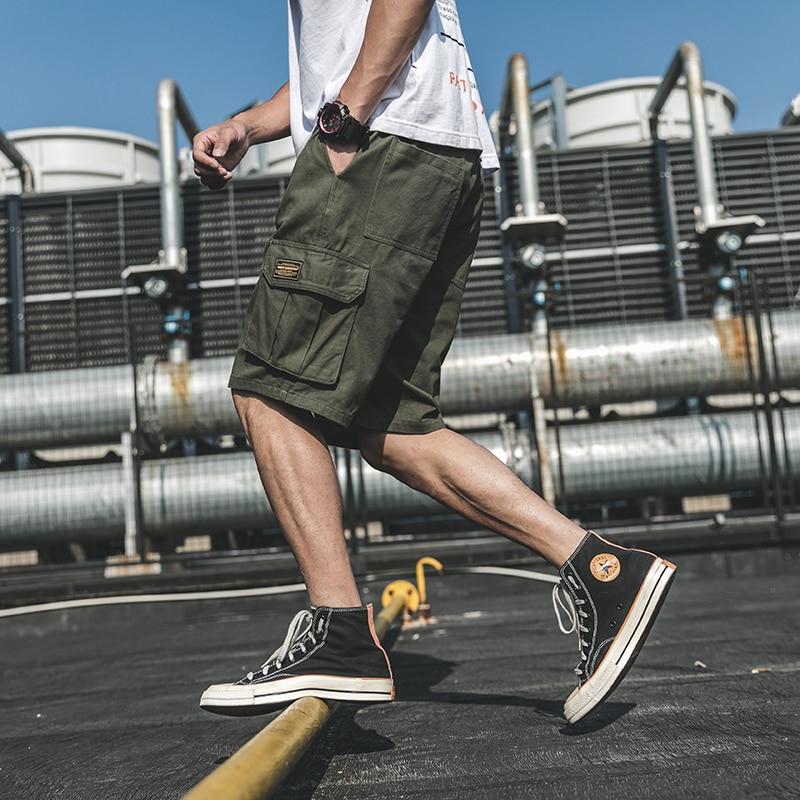 Камуфляжные мужские шорты-карго 2020, Летние повседневные шорты, мужские свободные рабочие шорты, мужские военные шорты размера плюс