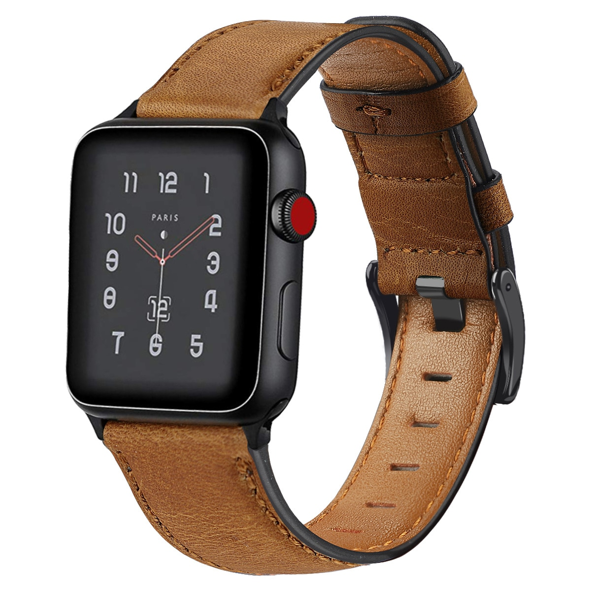 urvoi leather loop for apple watch series 3 2 1 band for iwatch comfortable feel soft leather strap with magnet buckle Genuine Leather with Metal Buckle Strap for Apple Watch Series 6 SE 5 4 3 2 1 Corium Wrist Band for Iwatch 38mm 40mm 42mm 44mm