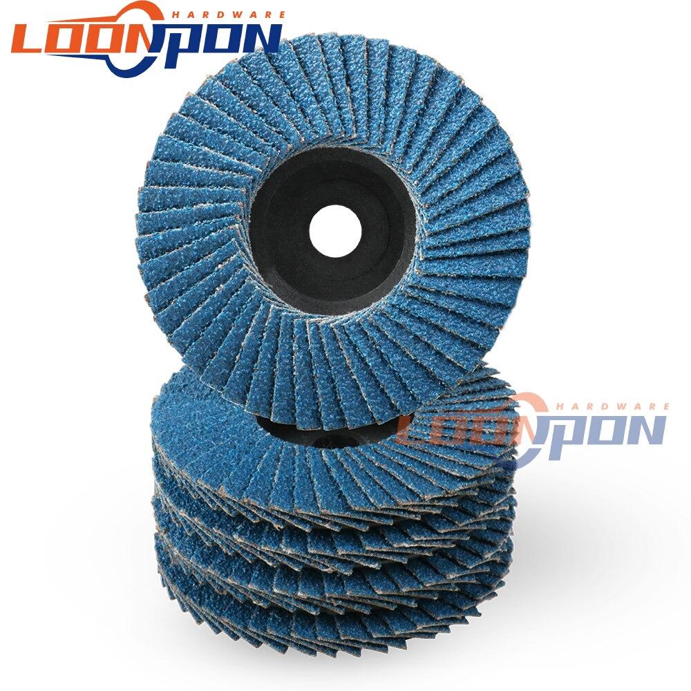 Откидные диски 75 мм, шлифовальные диски, 80 Грит, шлифовальные диски, лезвия для угловой шлифовальной машины, 3 дюйма, 10 шт.