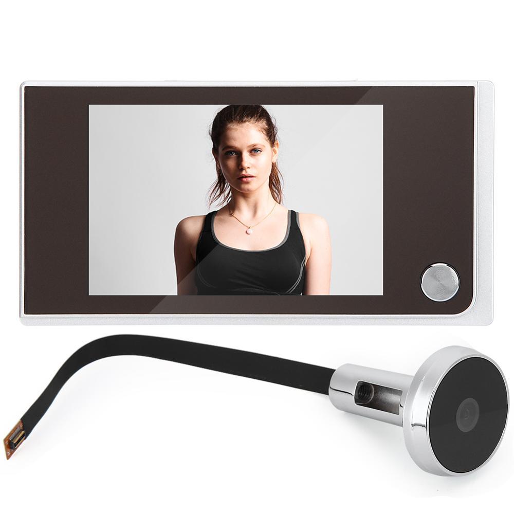 3.5in Digital Door Viewer Peephole Door Bell Video-eye Door Peephole 120 Degree Viewer Indoor Outdoor For Home Entery Systerm enlarge