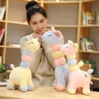 new cute colorful deer plush toys girl cartoon happy animal giraffe dolls stuffed soft dolls for children baby birthday gifts