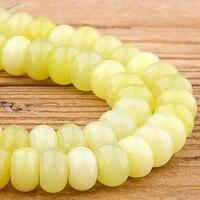 natural flat yellow lemon abacus drum gem stone loose abacus rondelle beads wheel jaspers beads for jewelry making handmade diy