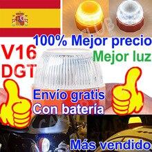 Aiuto LED V16 Dgt luce di emergenza SOS omologada DGT approvato Flash lampada di sicurezza avviso ambra bianco strobo luce di incidente stradale