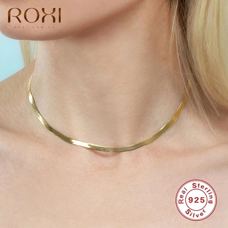 ROXI-عقد ثعبان كلاسيكي غير عادي للنساء ، مجوهرات زفاف مثيرة ، عقد من الفضة الإسترليني عيار 100% 925 ، سلسلة