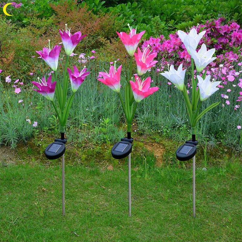 Cmoondrop-Luces Led decorativas para decoración de jardín, lámparas solares para exteriores