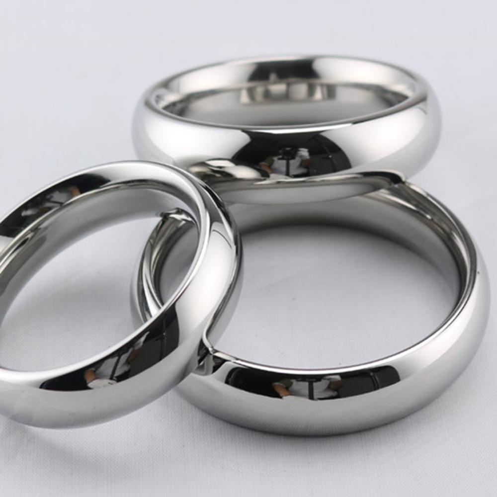 Multi-Frequency Stainless Steel Penis Ring Male Vibrator Sex Toy for Men Delay Ejaculation Metal Weight-Bearing Cock