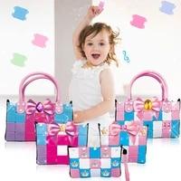 new 16 style soft girl bag building blocks kids diy bag model construction educational handmade toys children christmas gift