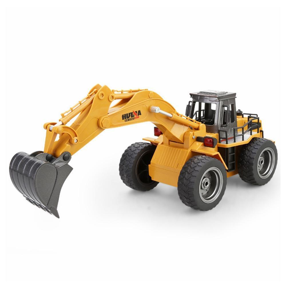 Huina 1530 6ch 1/18 Rc Metal Excavator Remote Control Excavator Toy With Charging Battery Rc Car Toys Kids Christmas Gift enlarge