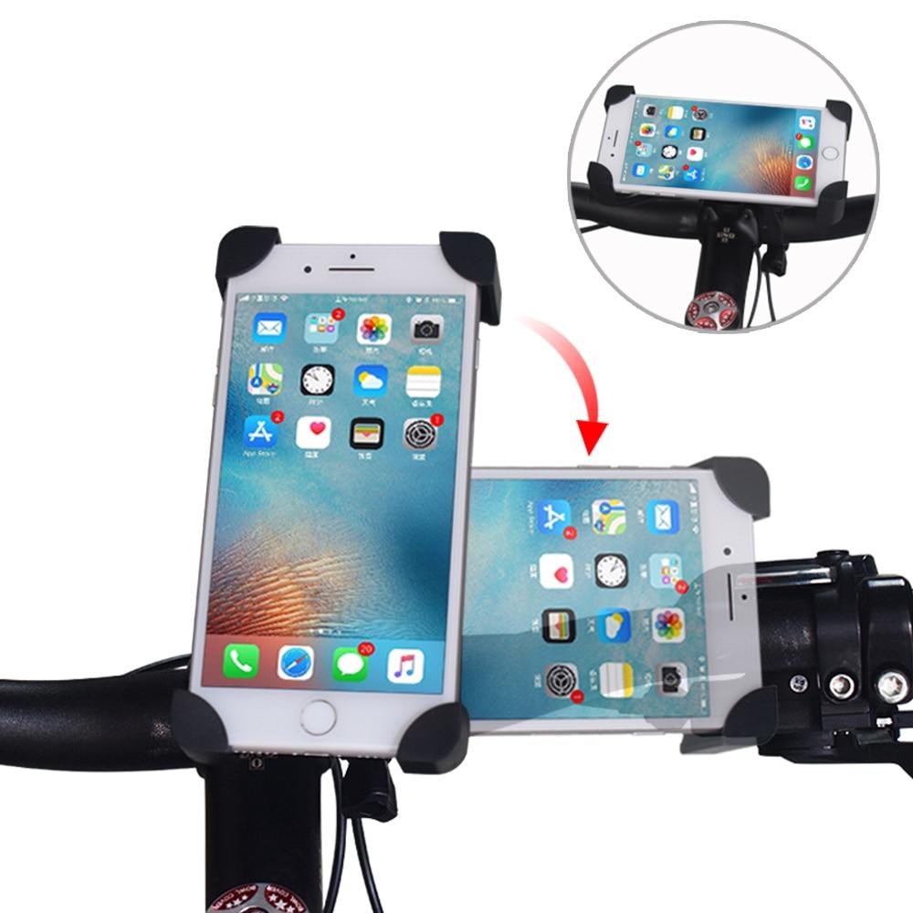 Fahrrad Handy Halter Fahrrad Mobile Handy Halter PVC Motorrad Suporte Celular Für IPhone Samsung Xiaomi GSM Houder Fiets