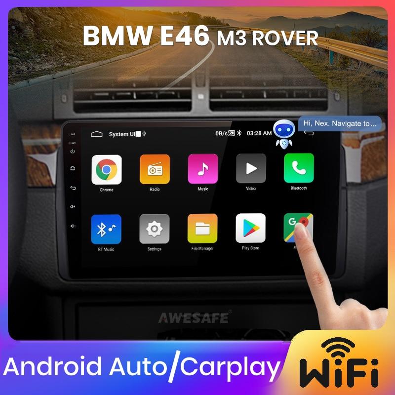 AWESAFE PX9 أندرويد السيارات Carplay لسيارات BMW E46 كوبيه (M3 روفر) 316i 318i 2000 2001 2002 2003 2004 2005 2006 راديو السيارة مشغل وسائط متعددة لتحديد المواقع لا 2 din