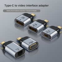 Для Vga/DP/RJ45/дисплейный порт MiniDP типа «HD видео конвертер 4K 60Hz для MacBook Huawei IPad, совместимому с HDMI USB-C Type-C несколько типов адаптер
