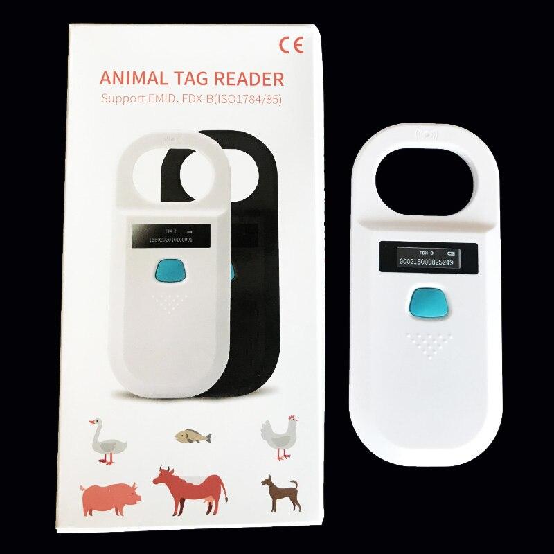 5 PCS OLEDDisplay Pet Scanner ISO11784/5 Animal Pet ID Reader Chip Transponder USB RFID Handheld Microchip Scanner for animals enlarge