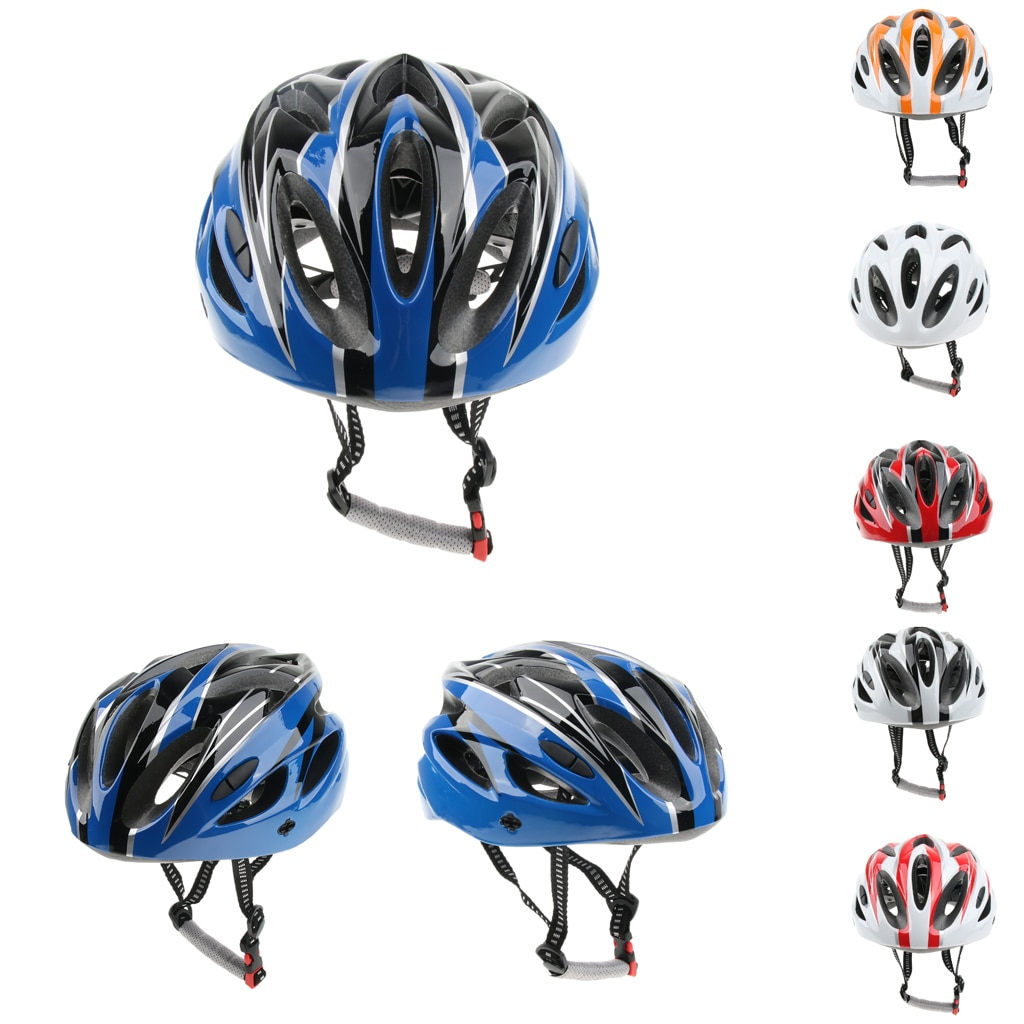 Casco de seguridad para bicicleta de carretera casco de protección para cabeza de patinaje sobre ruedas ajustable para deportes al aire libre 52-62cm