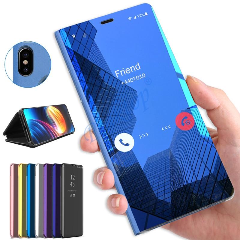 Espejo caso de Huawei P20 P30 P10 P9 P8 Lite Pro 2017 cubierta protectora en Hauwei Mate 30 20 Lite Pro Nova 6 SE Coque
