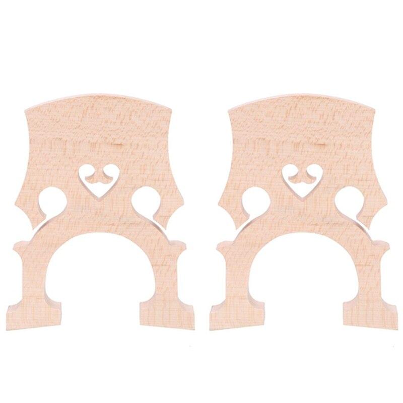 Dropship-2 Piece 3/4 4/4 Regulated Double Bass Contrabass Bridge Maple Replacement Parts Cello Diy Musical Instrument Accessorie