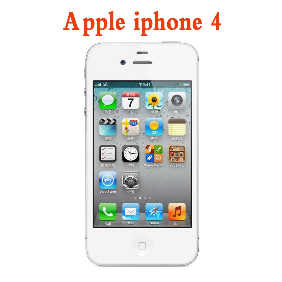 Used Apple iPhone 4 Original Factory Unlocked iPhone 4 IOS Dual Core WIFI WCDMA Mobile Cell phone Touch Screen smart phone