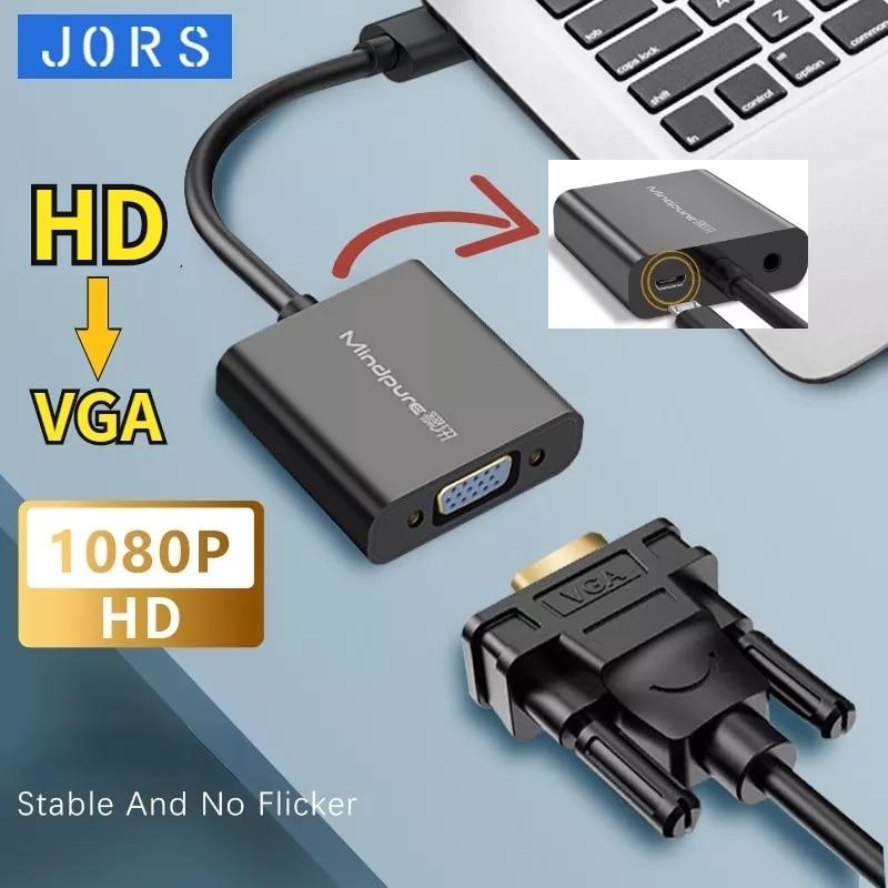 JORS Compatible con HDMI a VGA Cable adaptador de Cable de Audio...