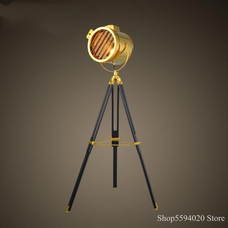 Lámpara americana De suelo Loft creativa Retro Industrial viento trípode lámpara De Pie Decoración Para sala De estar lámpara De Pie para el hogar lámpara De Pie