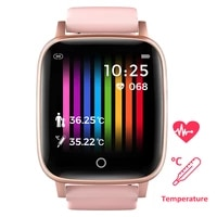 men sports smart digital watch women temperature measure ecg heart rate running fitness track smartwatch for android ios reloj